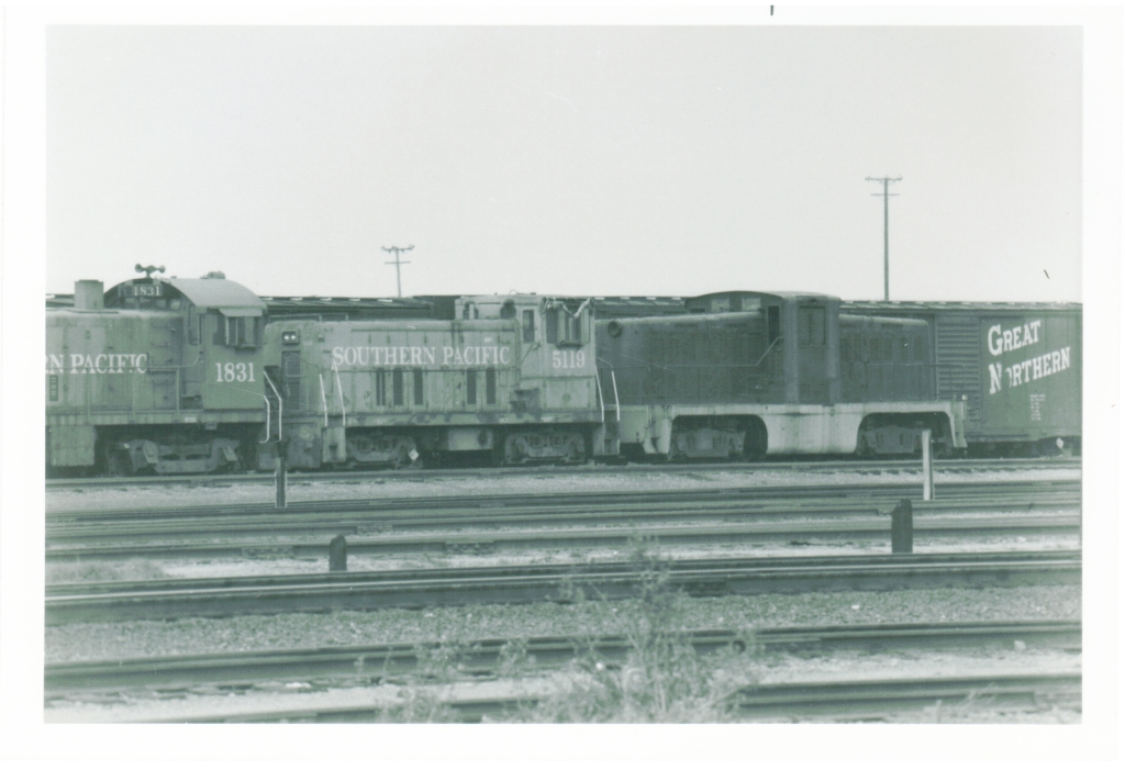 Southern pacific 1831,5119 and an un decorated center cab