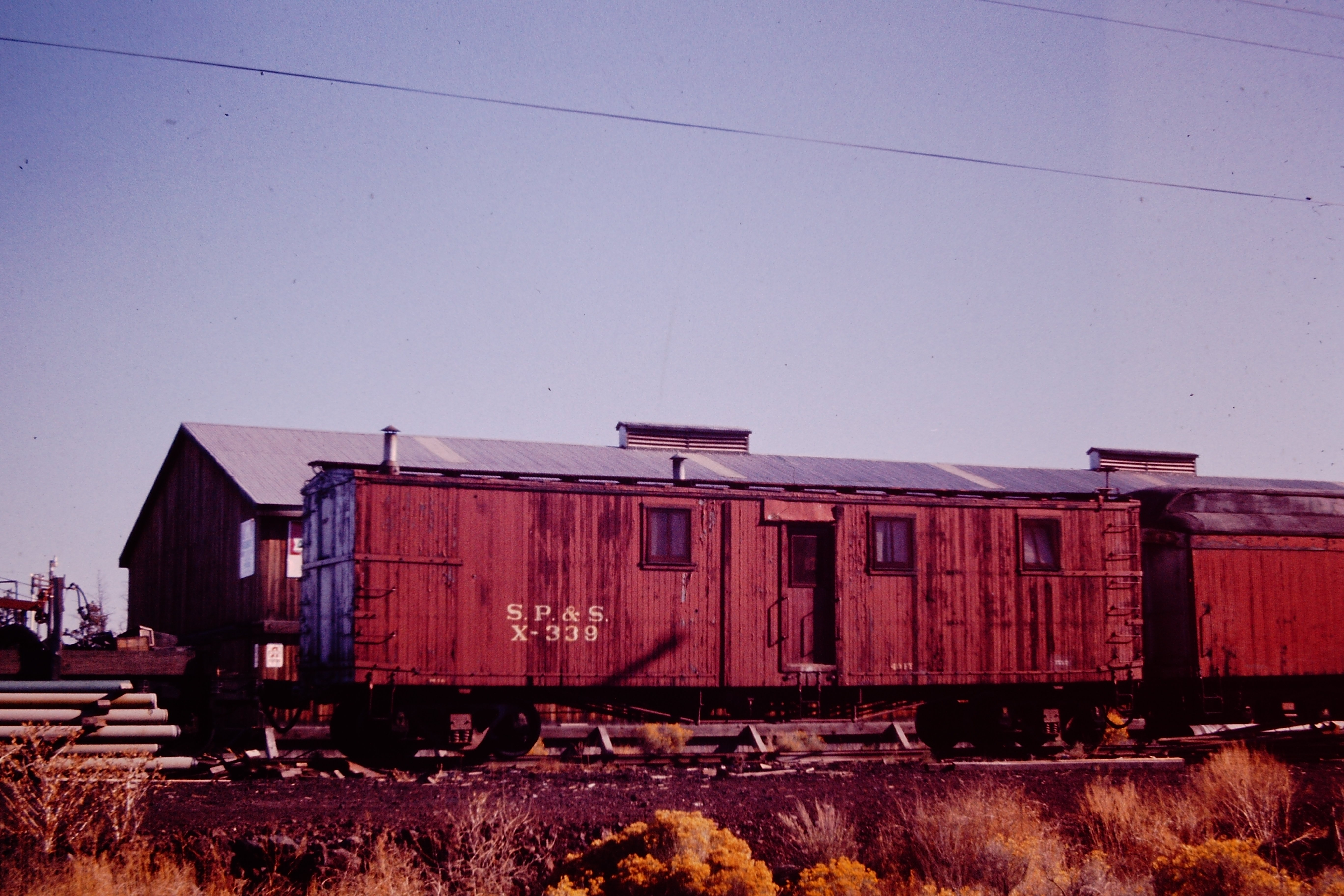 Wood boxcar turned into a sleeper