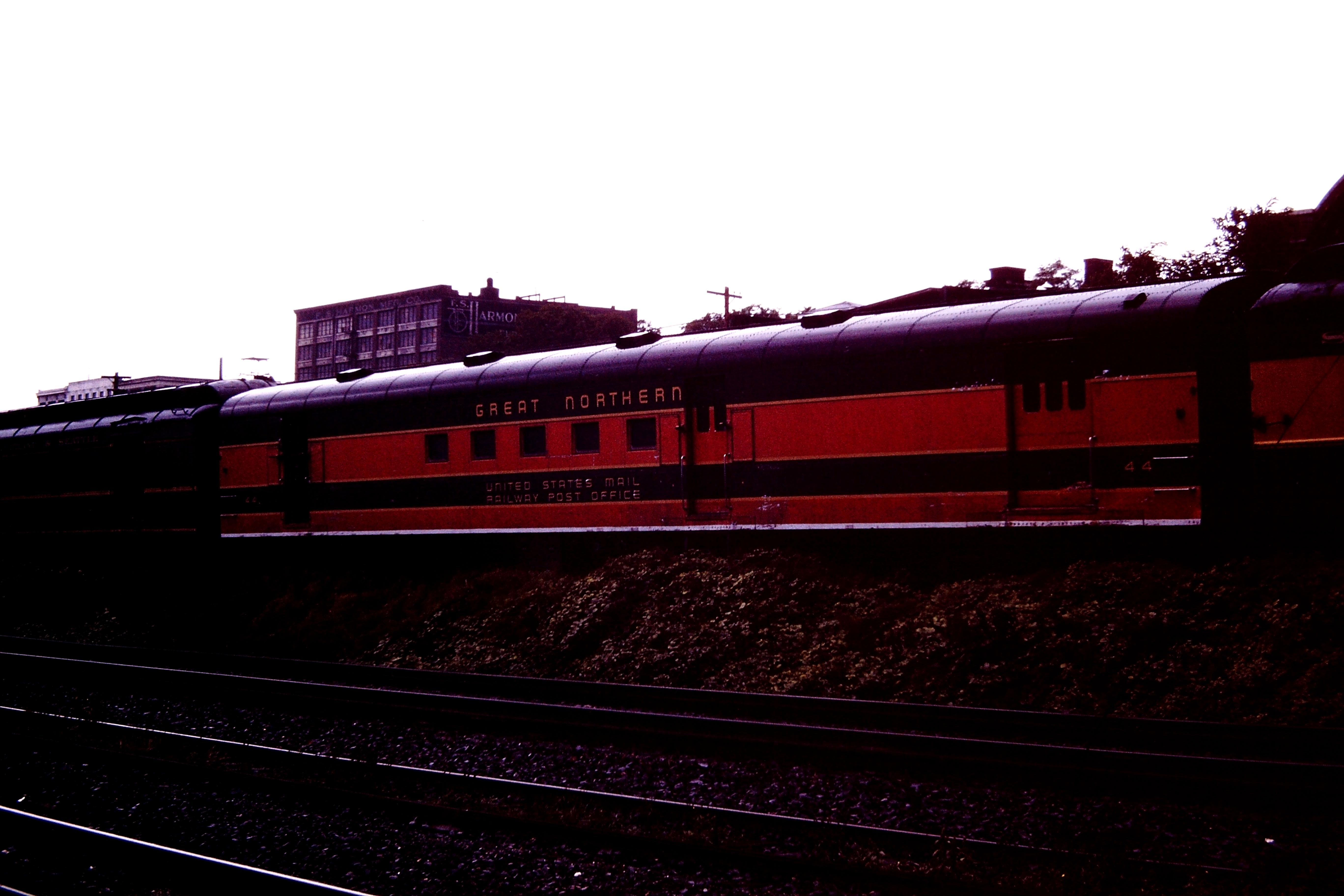Great Northern Mail railroad car